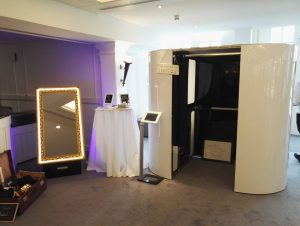 booths at wedding